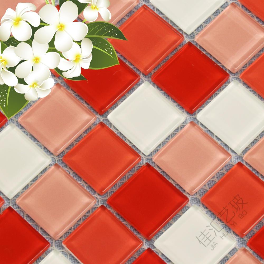 玻璃馬賽克  水池魚塘熱熔馬賽克 廚房衛生間墻貼磚戶外藍色游泳池陽臺瓷磚