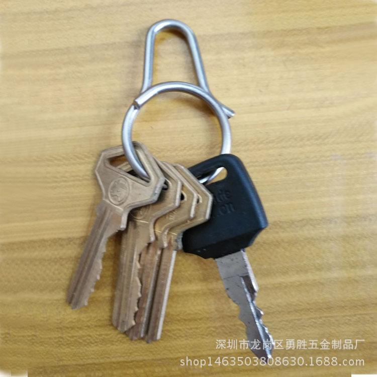 一體快拆式鑰匙扣 創意鈦合金匙圈掛件 原創設計男女鑰匙環示例圖6