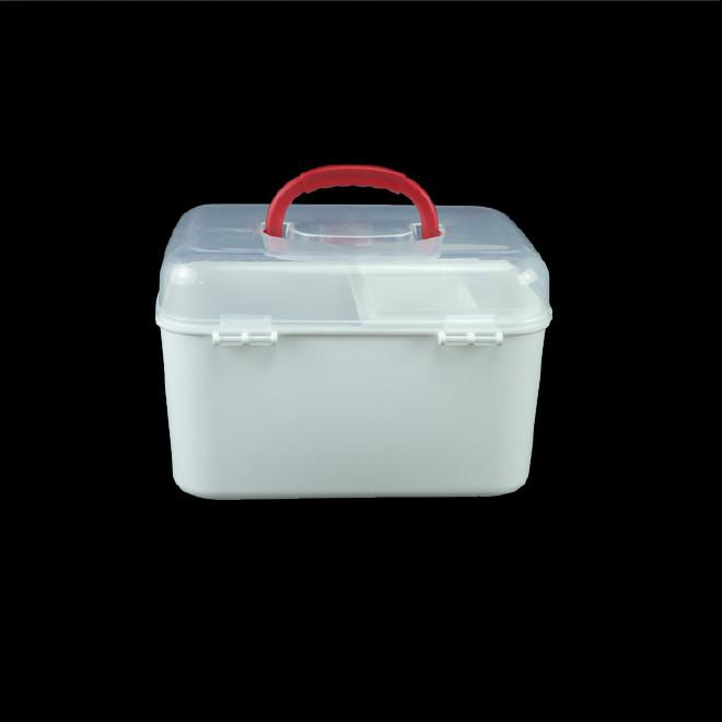 厂家直销塑料药箱 家用药箱 药品收纳箱手提箱药房赠品扶贫保健箱示例图11