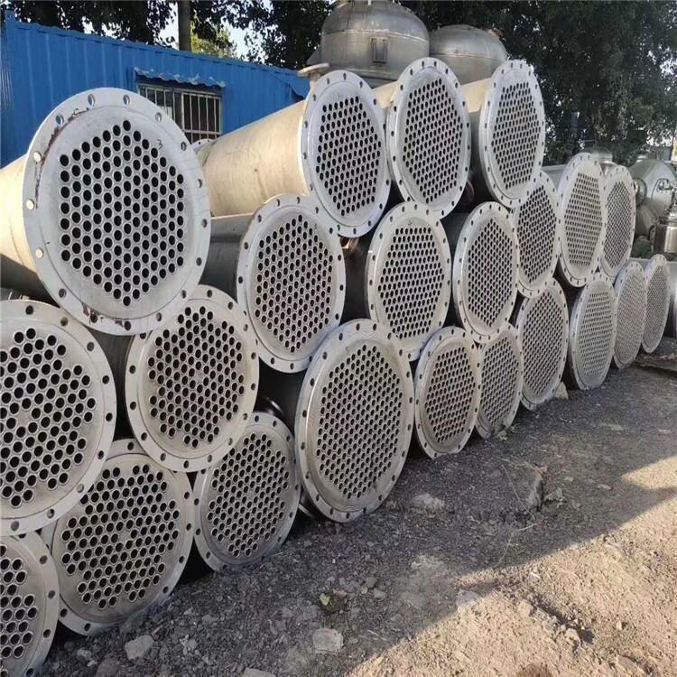 山东二手冷凝器价格 鲲鹏 不锈钢列管式冷凝器 二手九成新搪瓷冷凝器 优惠出售
