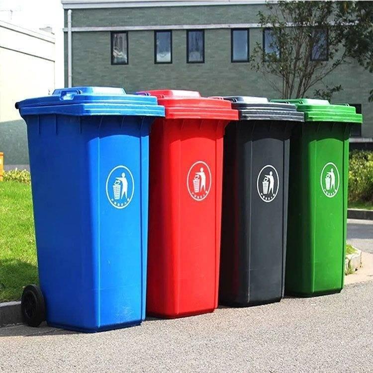 塑料垃圾桶 公园垃圾桶 火爆销售 小区环卫垃圾桶 可挂车垃圾桶