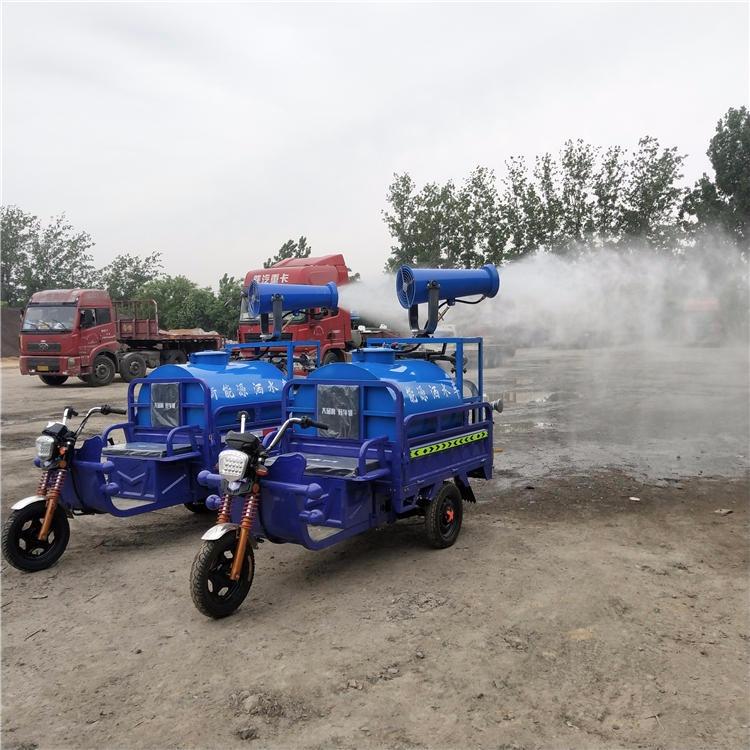小型電動霧炮灑水車  廠家定制灑水車工地除塵綠化環衛微型噴灑車