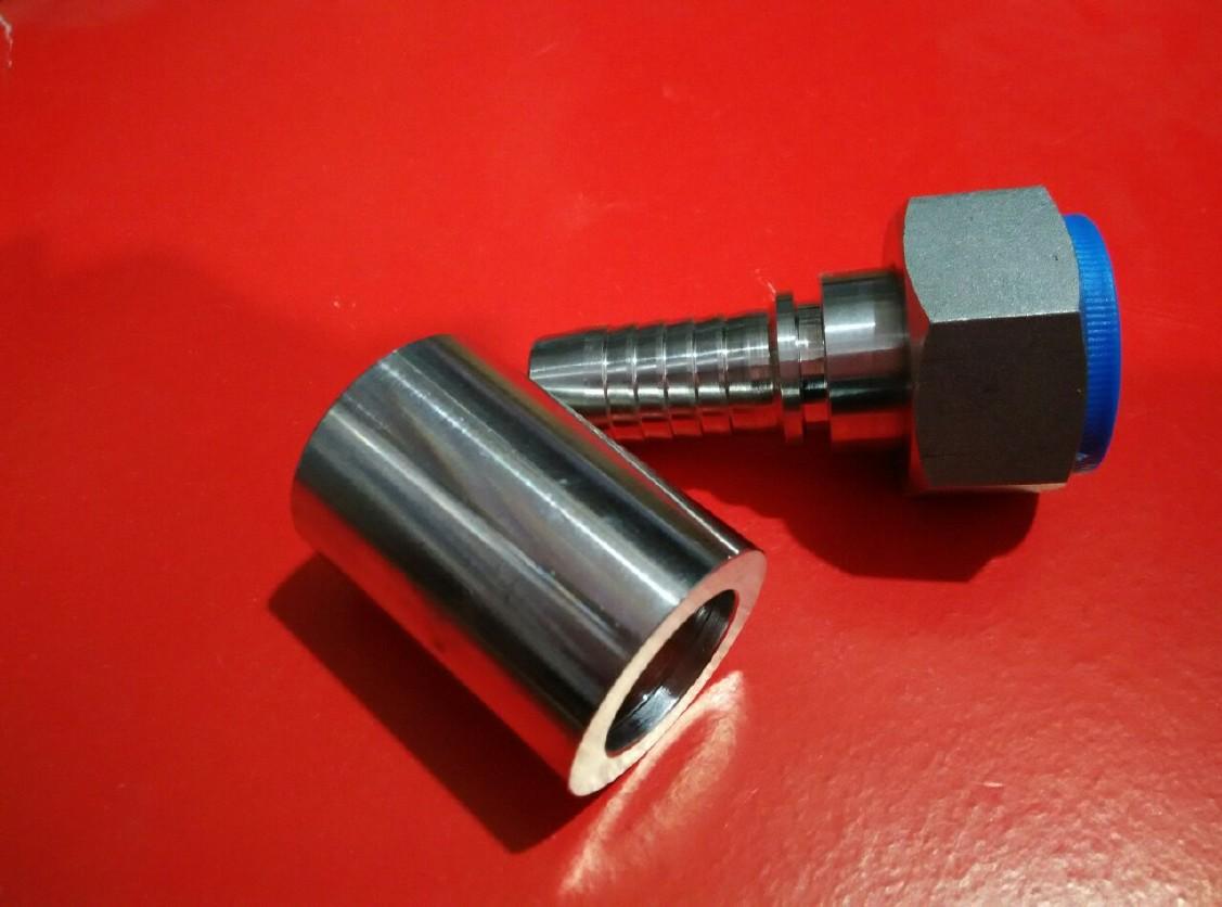 厂家直销 不锈钢316l 扣压软管液压接头 伊顿标准图片