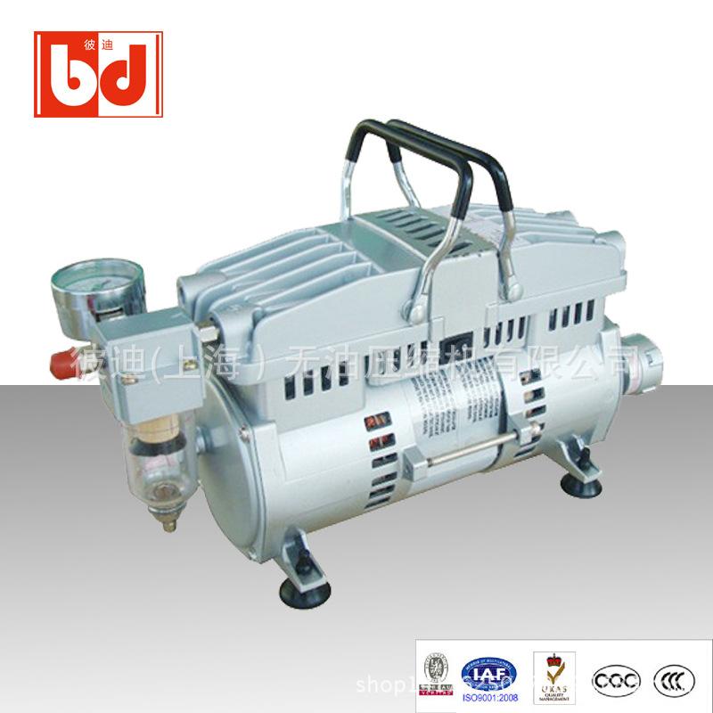 進口BD250-1/8馬力感應馬達空壓機廠家直供 無油靜音空壓機