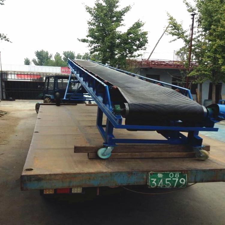 大倾角输送机物料输送装卸的设备可定做的仓库卸粮机皮带输送机厂家