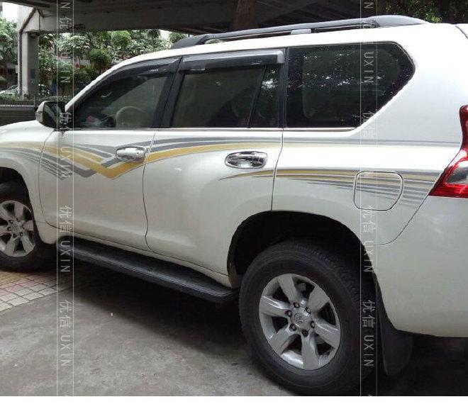 丰田霸道车身彩条 2700霸道原厂拉花贴纸 新普拉多改装车贴 中东