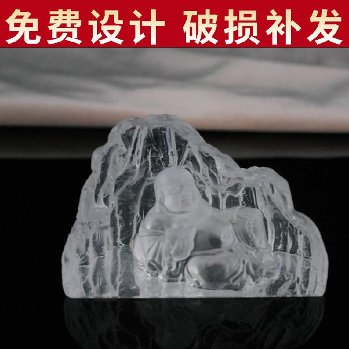 家居摆件吉祥工艺品 内雕水晶佛像工艺品 精美创意水晶工艺品