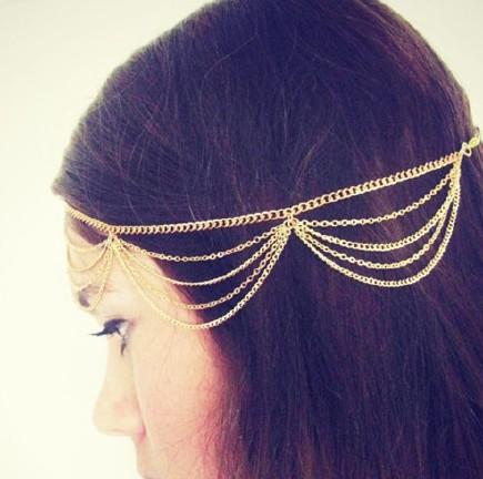 头带个性欧美流苏金属链条发饰发带发箍多层有限公司怎么样机电设备华哈尔滨环图片