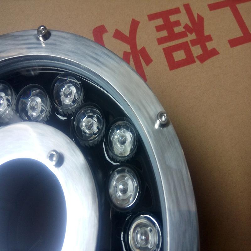 180大七彩喷泉灯 喷泉水下灯 水底灯不锈钢 led水底灯喷泉灯示例图8