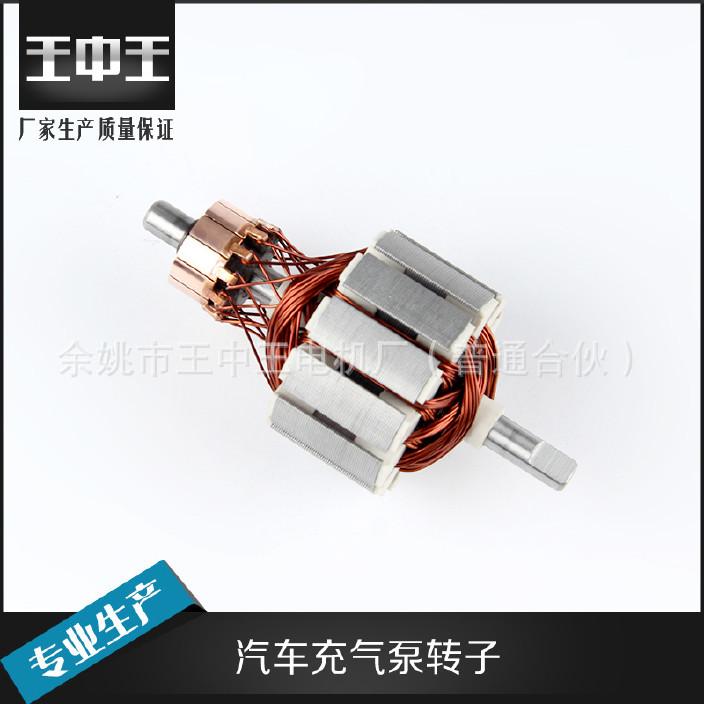 厂家定制车载充气转子 双缸转子 电机配件矽钢全铜转子图片