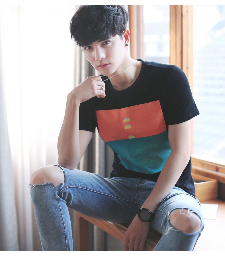 2017新款夏◆季男士短袖t恤男式�棉日系男�嫜b�A�I�n版休�e�S家直�N♀示例�D12