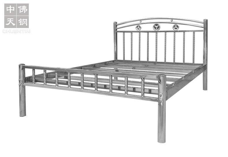 202钢制公寓出租屋床 不锈钢床1.2 1.5 1.8米304不锈钢双人床厂家示例图3