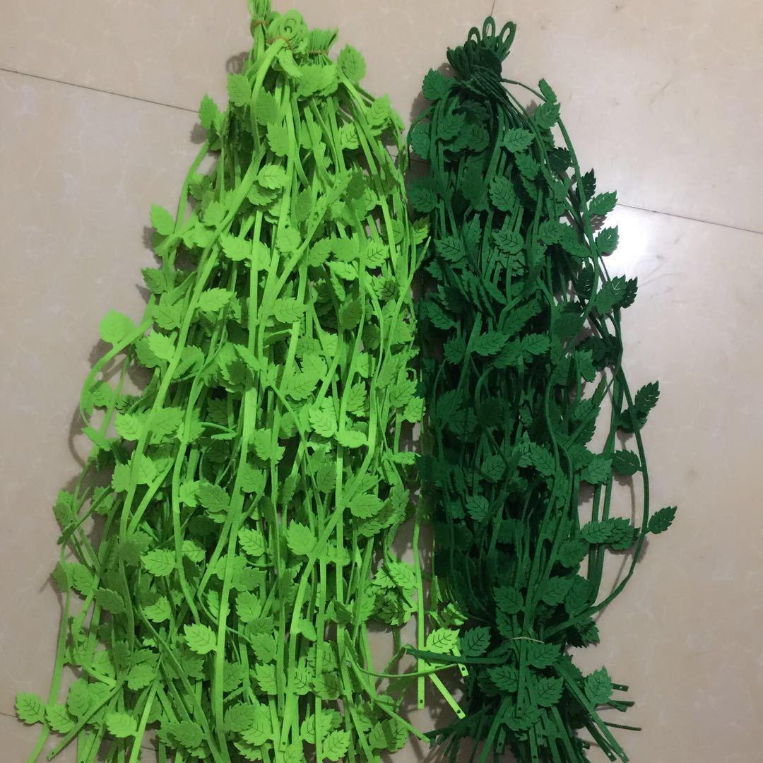 批发幼儿园 教室走廊挂饰 商场吊饰装饰 仿真树叶条柳条挂饰用品