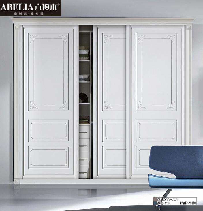 六道木定制欧式雕刻衣柜 高端卧室吸塑模压衣柜移门推拉门厂家