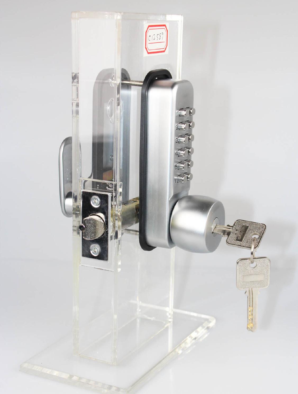 机械密码保险柜锁带钥匙两用第二代数字执手锁门用配件