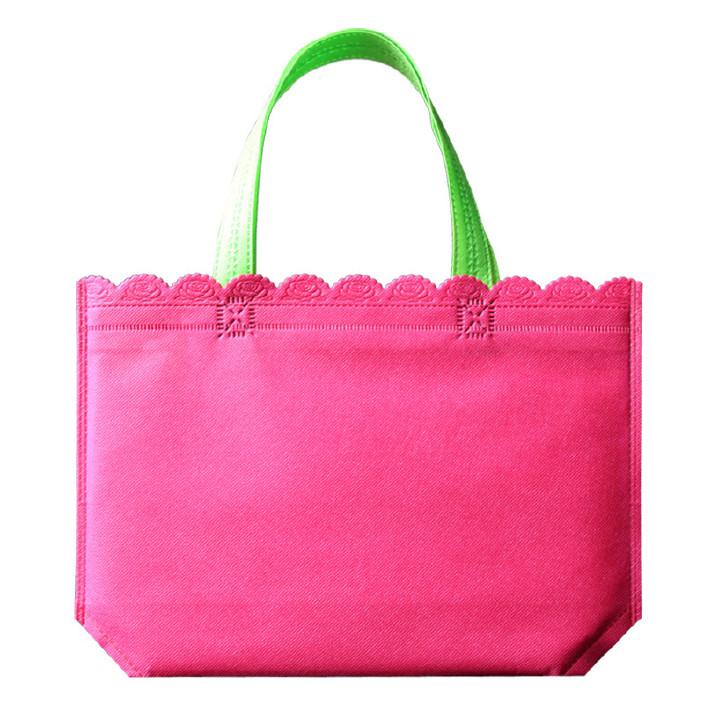 布袋定做彩色无纺布袋创意手提袋购物袋平底花边小袋子印刷订制印图片