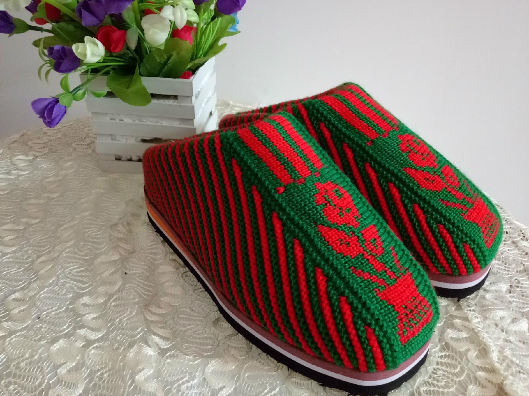 毛线棉拖鞋的织法视频教程全集_毛线棉拖鞋的织法视频