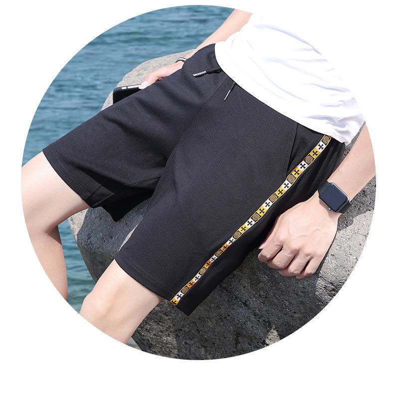 夏季男士短裤 中国风运动速干弹力沙滩裤 透气修身五分裤示例图14