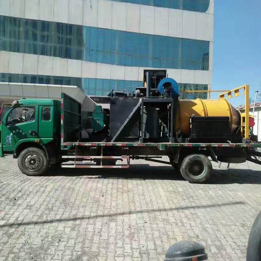 市政車載瀝青拌和機 多功能混合料攪拌機 便捷高效瀝青炒料機