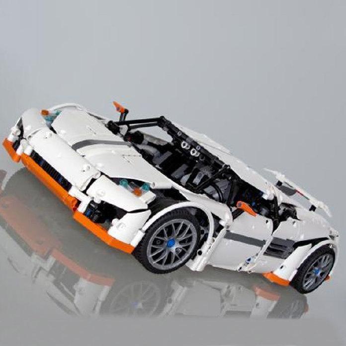 乐拼20052盒子系列捕科技的超级玩具拼插2811兼容拼装积木跑车抽积木食者图片