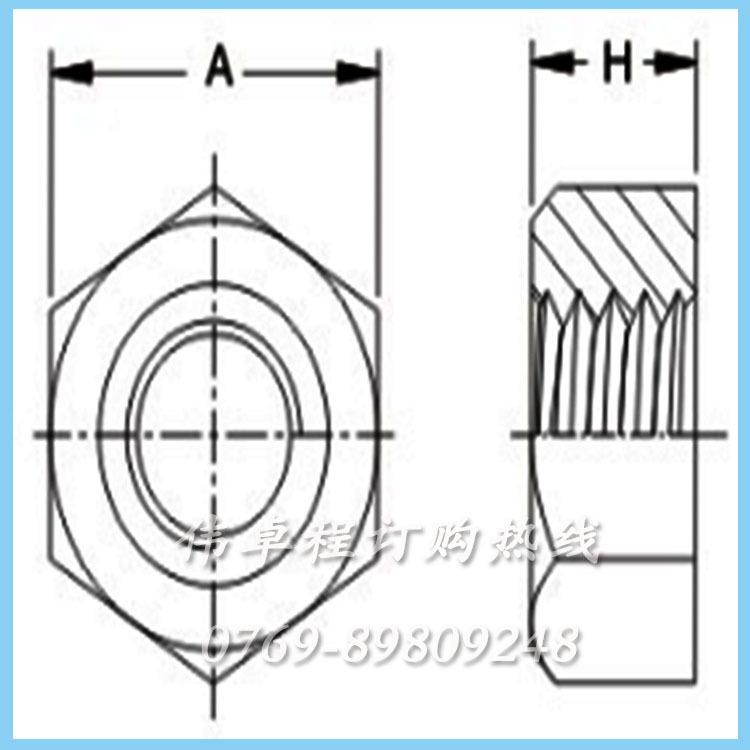 厂家直销批发塑胶尼龙66/PC公英制外六角螺母螺丝螺帽紧固件示例图2