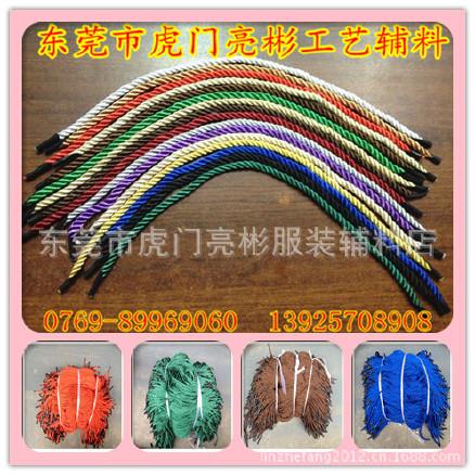 厂家直销颜色齐全手提绳 卡头礼品绳 多用途纸袋手挽绳 手提绳图片
