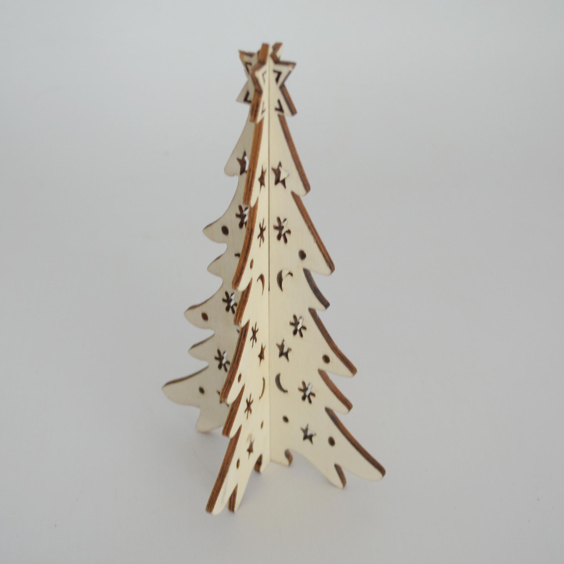 木质工艺品木制圣诞树木质摆件圣诞节装饰品 厂家 手绘手工批发