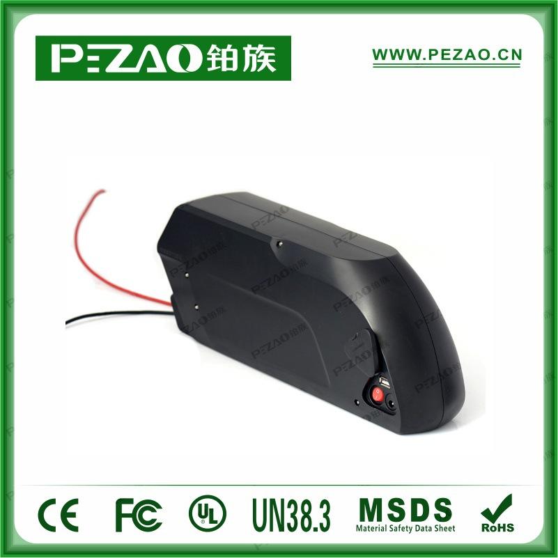 铂族电池 虎鲨款自行车电池组/锂电车电池组/18650动力电池组 36V12A-21Ah动力电池组示例图2