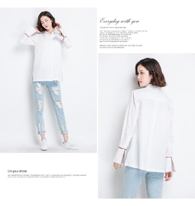 qq头像大全 个性签名 个性签名  热卖2014新款女式休闲纯棉修身白衬衣