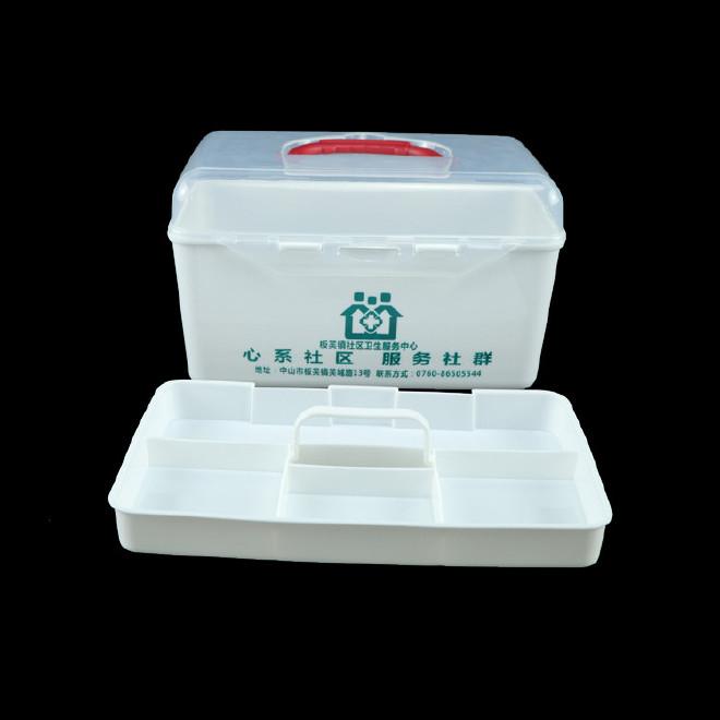 厂家直销塑料药箱 家用药箱 药品收纳箱手提箱药房赠品扶贫保健箱示例图27