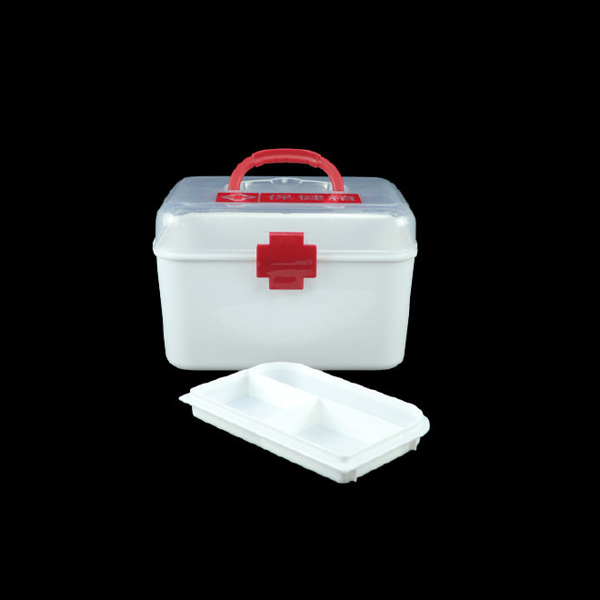 厂家直销塑料药箱 家用药箱 药品收纳箱手提箱药房赠品扶贫保健箱示例图9
