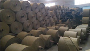 PP编织袋筒料生产厂家直销黄色半成品布卷 开边编织布可加工定做示例图11