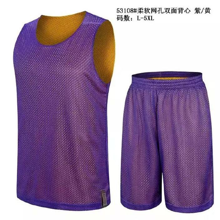 篮球服双面 男款高档球衣 运动比赛训练队服印