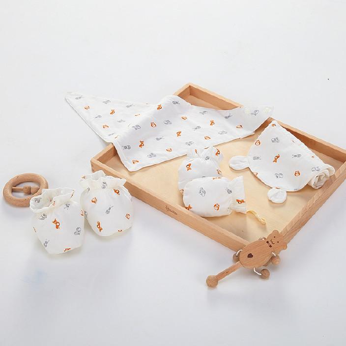 婴儿宝宝吸汗巾儿童隔汗巾 幼儿园纯棉纱布垫背巾A类一等品无荧光