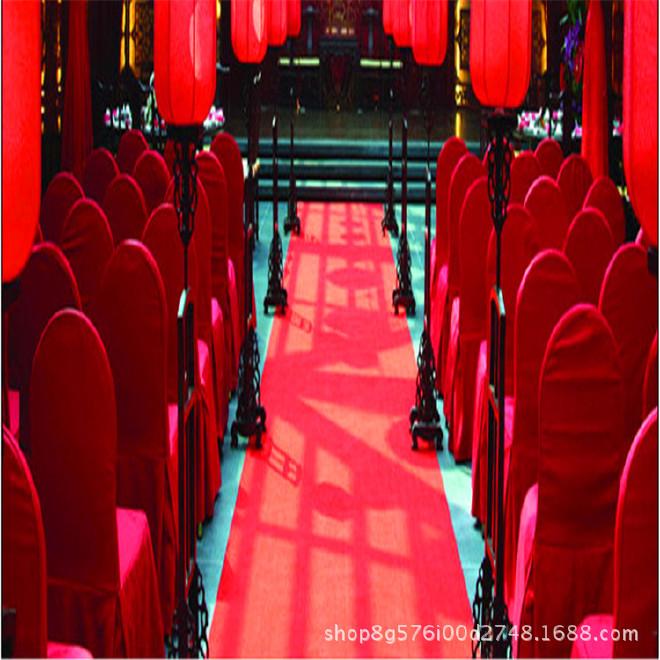 红地毯一次性加厚结婚礼舞台展览会开业喜庆典大红色条纹地毡整卷示例图10