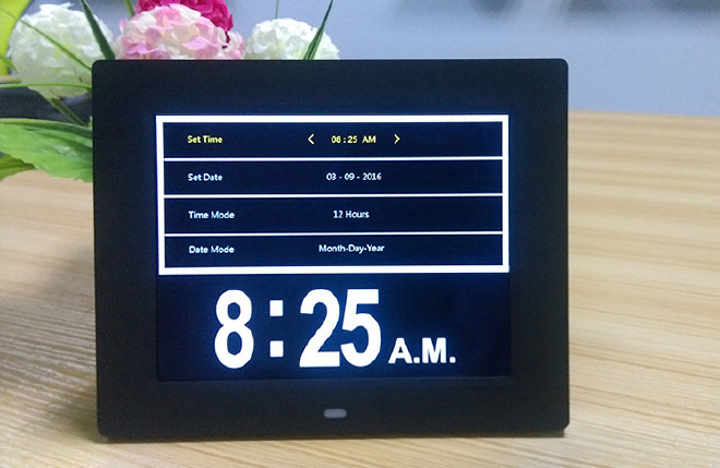 深圳廠家直銷8寸數碼電子時鐘亞馬遜爆款9國語言鬧鐘Day Clock示例圖16
