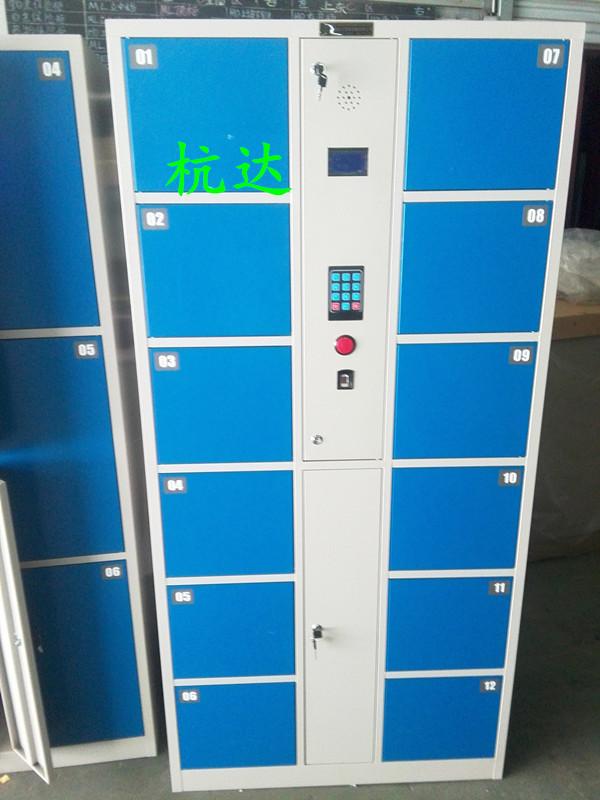 厂家供应智能12门-48门指纹存包柜遥控器开门,自己设置一人一门示例图3