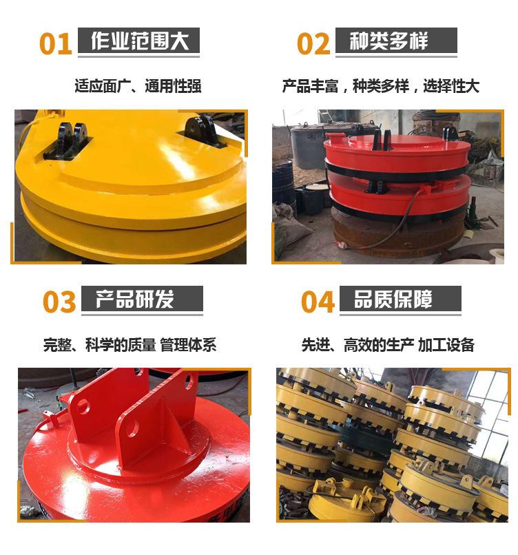 厂家直销起重电磁吸盘 1.2米强磁起重电磁铁吸盘鑫运起重电磁吸盘示例图13