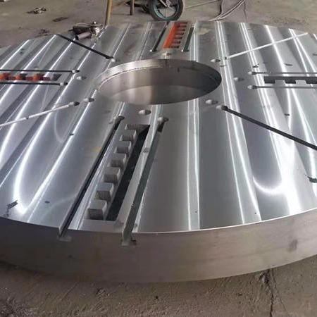 铸铁立车工作台 机床圆形平台 圆形平板 专业生产厂家泊头亮健机械