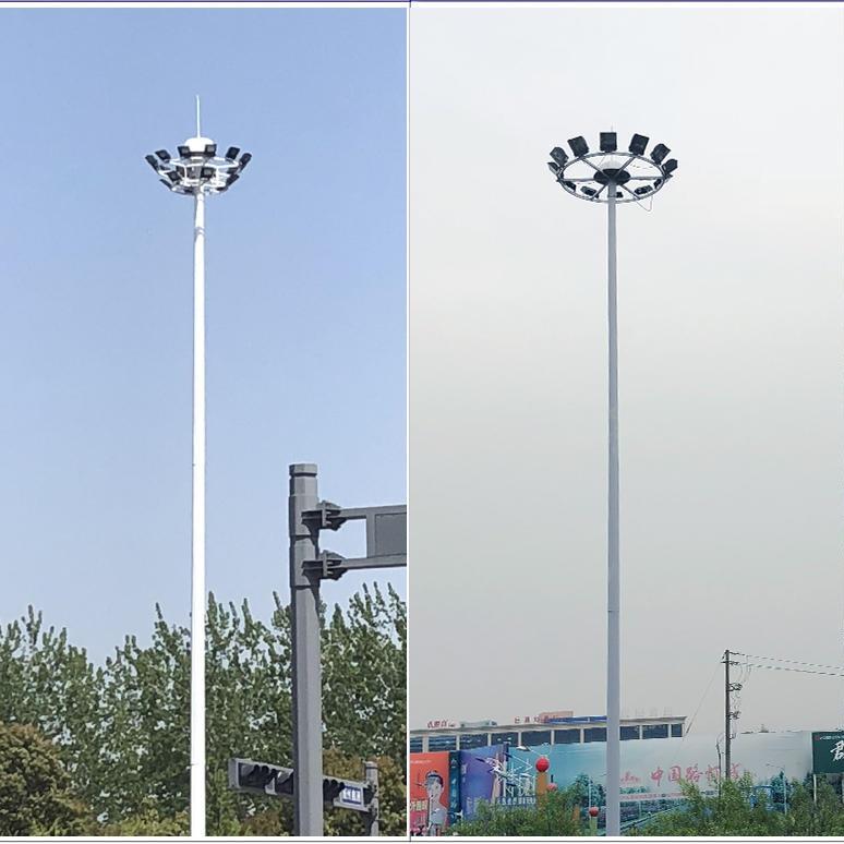 高桿燈安裝維護保養 高速服務器升降式路燈 LED高桿燈生產廠家 浩騰照明路燈廠家