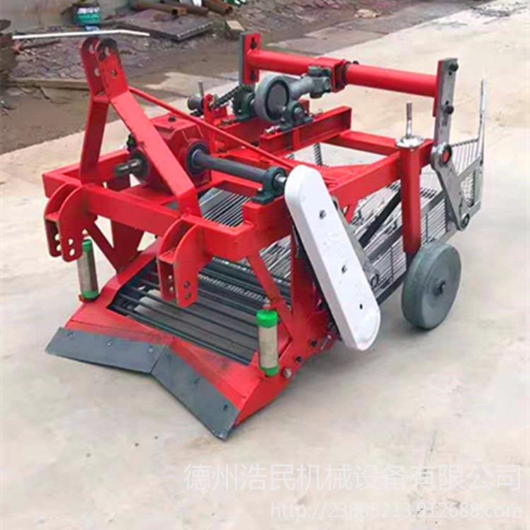 浩民生產直銷三行花生收獲機 80公分花生收獲機械 拖拉機后置農用振動篩花生收獲機