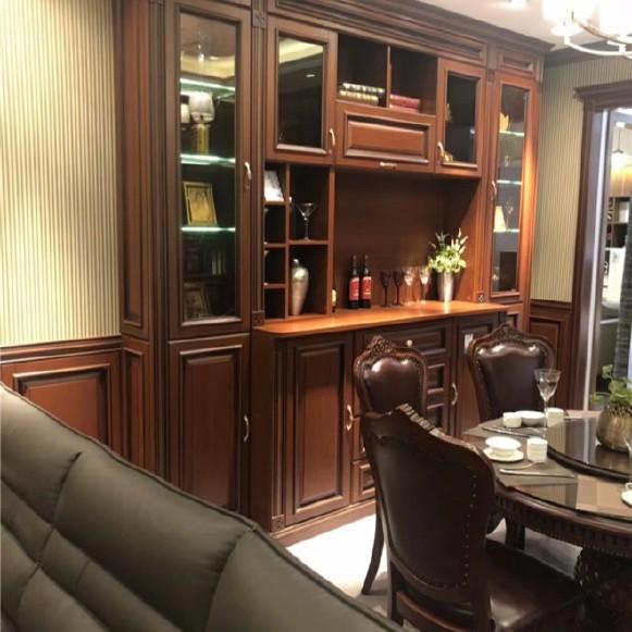 长沙定做中式家具实木书柜门、实木木门订制知名品牌