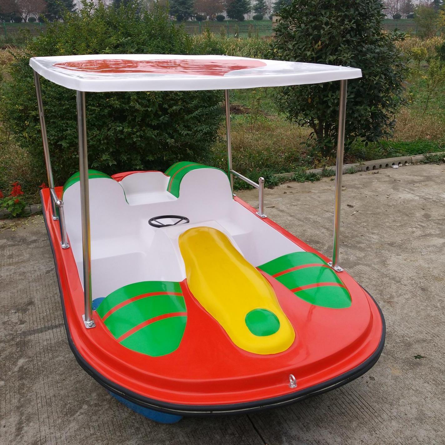 玻璃鋼腳踏船 公園腳踏游船 2人腳踏船 4人玻璃鋼腳踏船