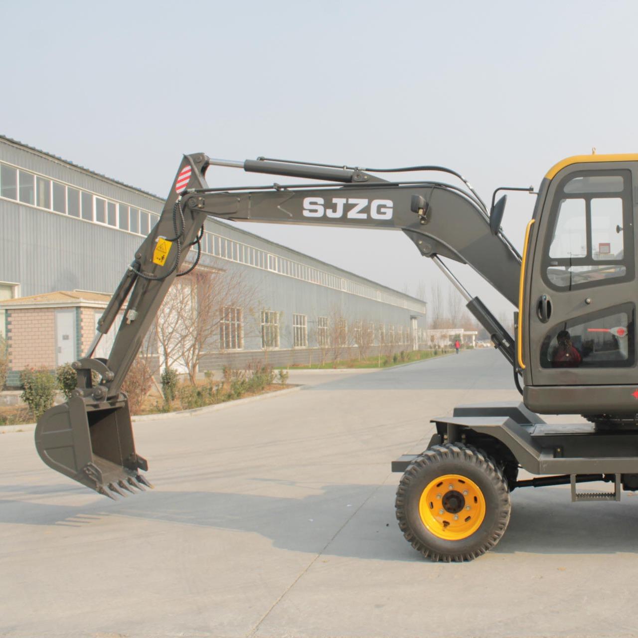挖掘機配件機械 全新中型挖掘機 優質耐用輪胎式挖掘機圖片
