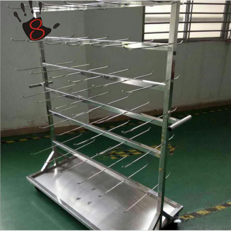 不锈钢SMT双面挂料车 拆装式端子盘物料存放车料盘架 挂料车定制图片