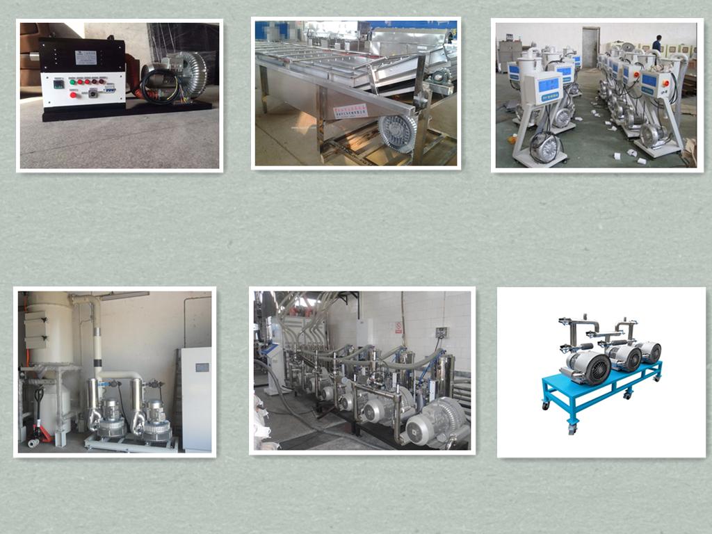 真空干燥机高压风机,网带式干燥设备旋涡气泵,颗粒干燥设备RH-810-2高压鼓风机,纽瑞高压旋涡鼓风机示例图1