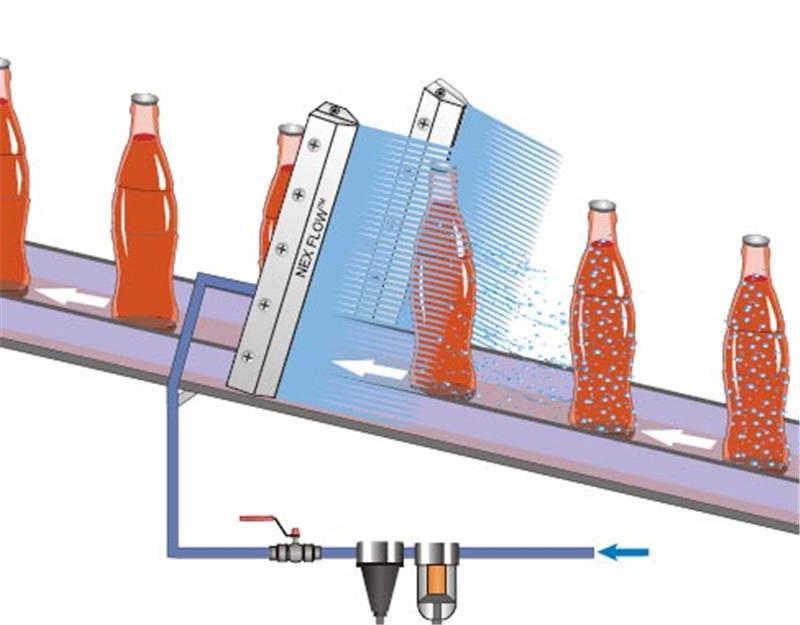 高精密铝合金风刀水滴式铝合金风刀玻璃吹水吹干专用风刀示例图9