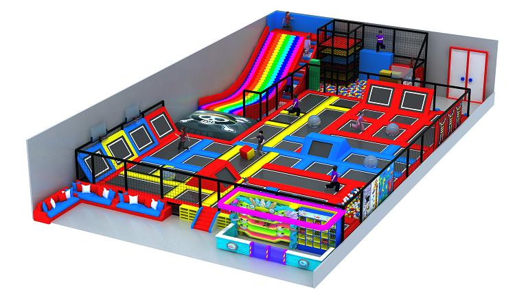 大型室内体能概念主题综合体儿童乐园,小勇士体验式儿童乐园,网红项目儿童乐园示例图8
