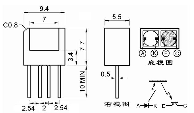反射式光电开关/ST188 WASF L4示例图2
