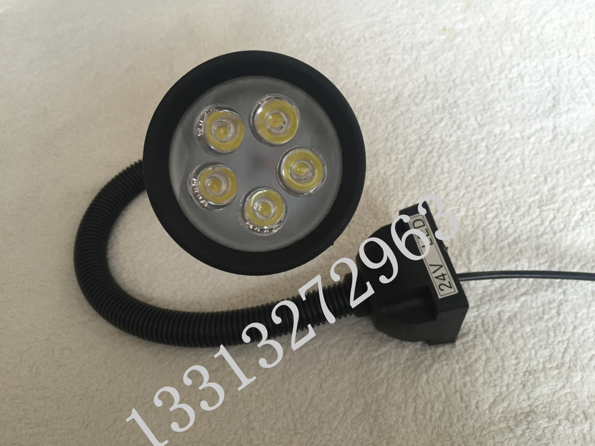 220VLED分散片照明灯 50D软管万向小方座工作灯 5珠工作灯 LED机床工作灯示例图16